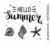 conceptual hand drawn phrase... | Shutterstock .eps vector #605352662
