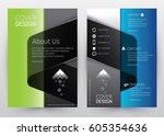 cover design vector template... | Shutterstock .eps vector #605354636