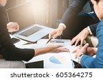 business concept  business man... | Shutterstock . vector #605364275