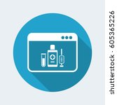 medical digital page   vector... | Shutterstock .eps vector #605365226