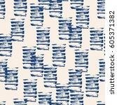 vector tie dye seamless pattern.... | Shutterstock .eps vector #605371382