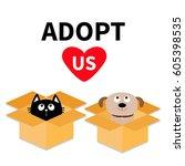 adopt us. dont buy. dog cat... | Shutterstock .eps vector #605398535