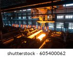 the production process in the... | Shutterstock . vector #605400062