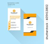 vertical business card print... | Shutterstock .eps vector #605413802