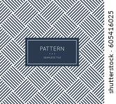 geometric seamless pattern.... | Shutterstock .eps vector #605416025