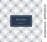 geometric seamless pattern.... | Shutterstock .eps vector #605418122