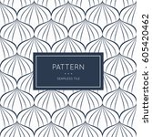 geometric seamless pattern.... | Shutterstock .eps vector #605420462
