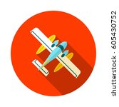 hydroplane vector icon. travel. ... | Shutterstock .eps vector #605430752