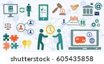 vector illustration of... | Shutterstock .eps vector #605435858