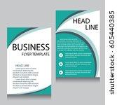 vector brochure flyer design...   Shutterstock .eps vector #605440385
