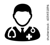 doctor icon   physician person... | Shutterstock .eps vector #605451896
