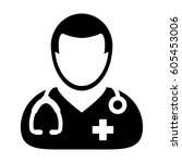 doctor icon   physician person... | Shutterstock .eps vector #605453006