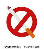 the sign no smoking area.... | Shutterstock .eps vector #605467106
