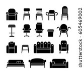 office hair  armchair  lounge ... | Shutterstock .eps vector #605469002