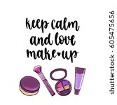 modern calligraphy style... | Shutterstock .eps vector #605475656