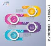 modern paper infographics... | Shutterstock .eps vector #605500178