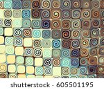 abstract horizontal background. ... | Shutterstock . vector #605501195
