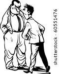conflict of two businessmen | Shutterstock .eps vector #60551476