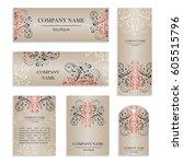 set of design templates for...   Shutterstock .eps vector #605515796