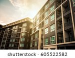new modern apartment building | Shutterstock . vector #605522582