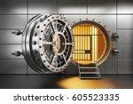 Vault Bank Door In Storage Roo...