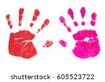 Colorful Handprints Handpainte...