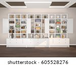 open white cabinets with