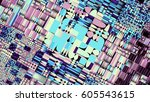 abstract image background 16 9... | Shutterstock . vector #605543615