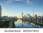 sao paulo brazil south america...   Shutterstock . vector #605547692