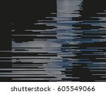 modern glitched background... | Shutterstock .eps vector #605549066