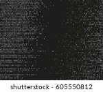 corrupted source code. modern... | Shutterstock .eps vector #605550812