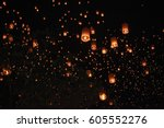 Flying Sky Lantern On Yeepeng...