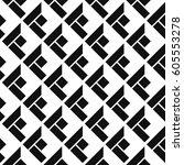 seamless isometric patterns | Shutterstock .eps vector #605553278