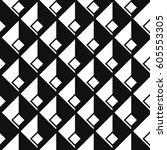 seamless isometric patterns | Shutterstock .eps vector #605553305