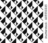seamless isometric patterns | Shutterstock .eps vector #605553335