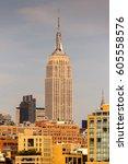 new york  usa   sep 25  2015 ... | Shutterstock . vector #605558576