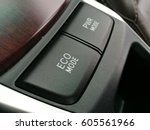 button eco mode in car save... | Shutterstock . vector #605561966