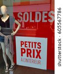 Small photo of Epernay, France - july 26 2016 : sales reduction in a shop