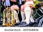 part of a typical bavarian musican - stock photo