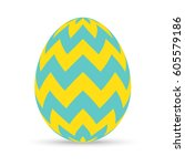 Easter Egg With Zigzag Chevron...