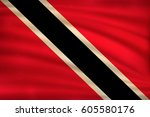 the national flag of trinidad... | Shutterstock .eps vector #605580176