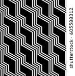 regular geometric. seamless... | Shutterstock .eps vector #605588312