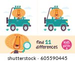 find the differences. kids... | Shutterstock .eps vector #605590445