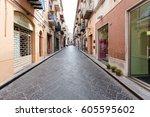 cefalu  italy   june 25  2011 ... | Shutterstock . vector #605595602