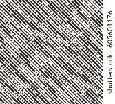 vector seamless black and white ... | Shutterstock .eps vector #605601176