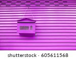 Purple Mailbox Hanging On The...