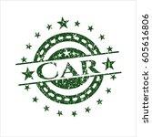 green car distress grunge style ... | Shutterstock .eps vector #605616806