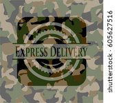 express delivery written on a... | Shutterstock .eps vector #605627516