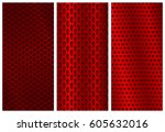 red metal perforated... | Shutterstock .eps vector #605632016