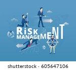 business metaphor of financial... | Shutterstock .eps vector #605647106